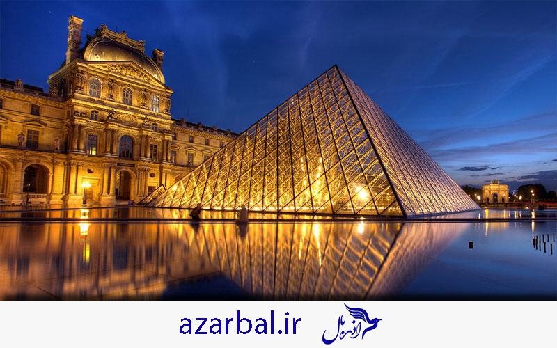 موزه لوور پاریس در تور فرانسه تابستان 99