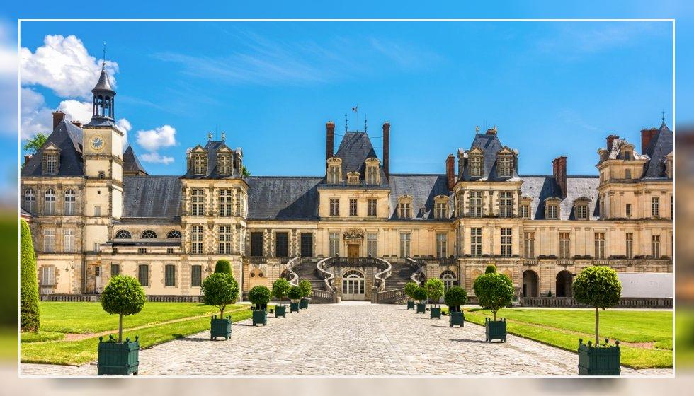 قصر باشکوه و مجلل فونتن بلو در فرانسه