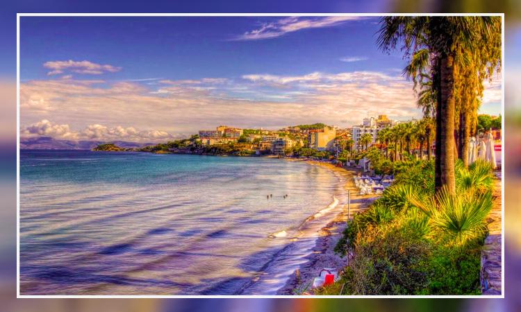 نمایی از ساحل زیبای کوش آداسی
